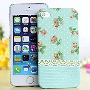 (CASEI)Hi-Q Glow in The Dark Lace Country Style Flower Painting Case for iPhone 5/5S(Assorted Colors) , 1#