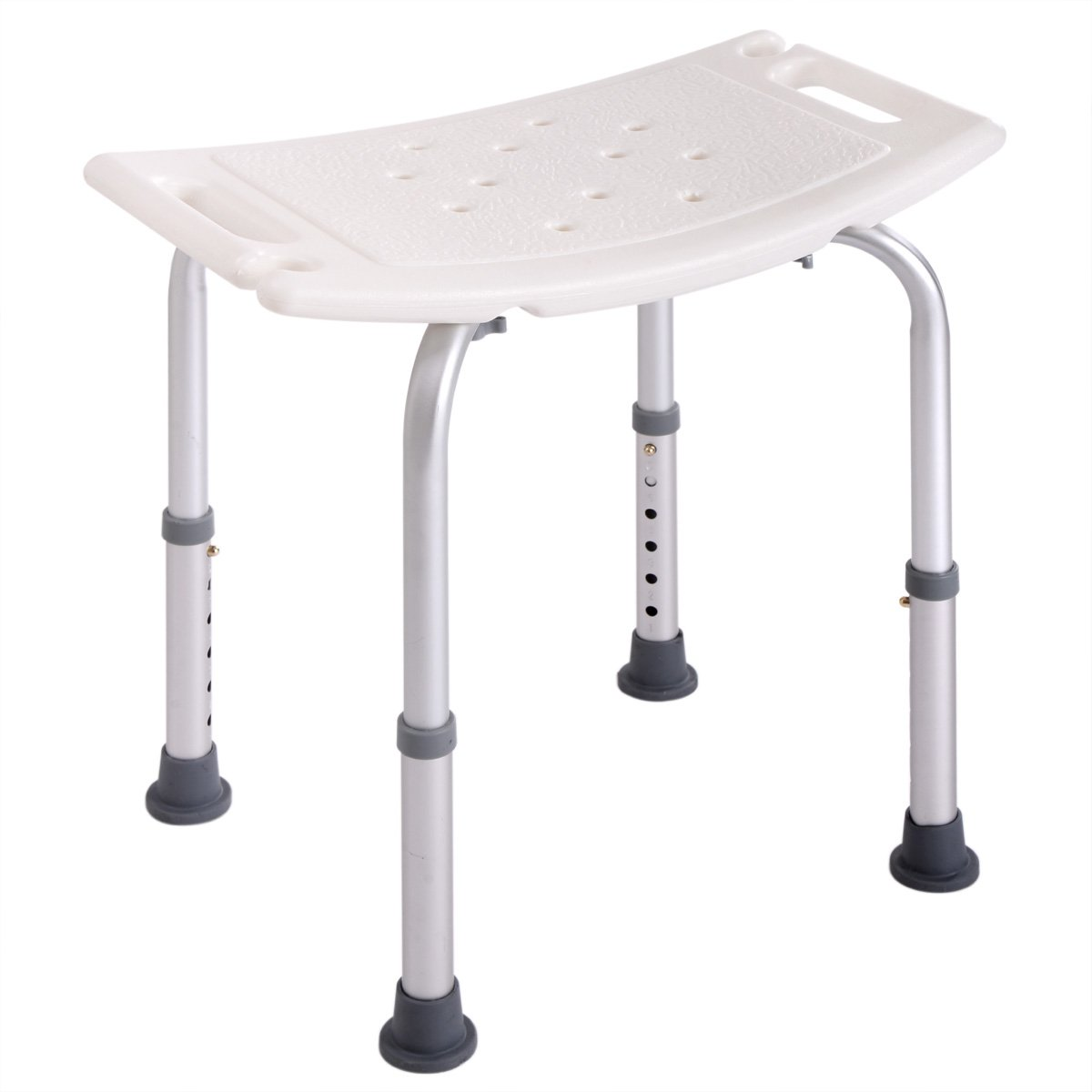 Tobbi Medical Tool-Free Assembly Adjustable Shower Stool Tub Chair W/Anti-Slip Rubber Tips
