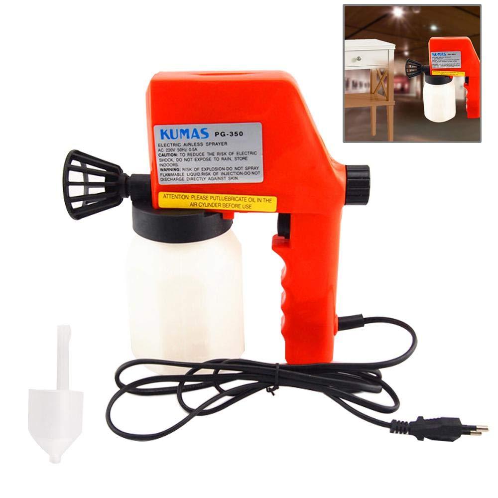 Paint Gun, Umiwe DIY Electric Paint Sprayer, Hand Held Light Spray Gun System, Fence Sprayer, Adjustable Valve Knob, 600ml Detachable Containers Painting, Varnishing, Lacquering (Style B)
