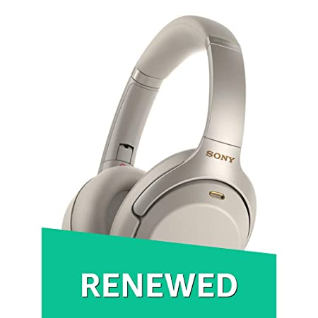 Renewed  Sony WH 1000XM3 Wireless Industry Leading Noise Cancellation Headphones with Alexa  Silver  On Ear Headphones