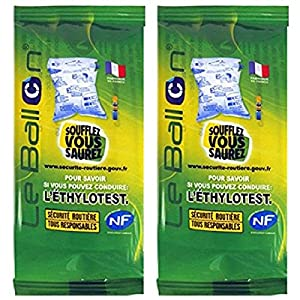 Lot de 2 Ethylotest (Norme NF)