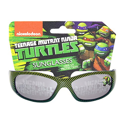Boys Nickelodeon Teenage Mutant Ninja Turtles Non Polarized Sports Sunglasses with 100% UV Protection Black and Yellow - How Sunglasses Know Uv Protection To