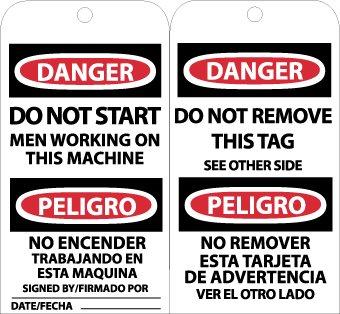 DO NOT START MEN WORKING ETC PELIGRO