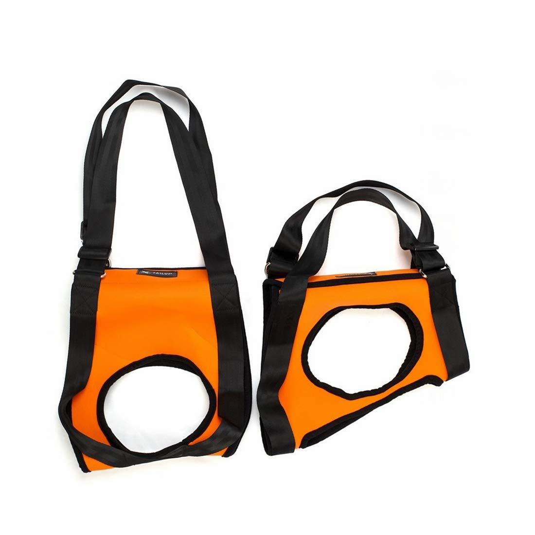 Hikaru Akai 足の弱い高齢の犬 ドッグリフト ハーネス ポータブル サポート リハビリテーション モビリティーのお手伝い ハーネス リード 首輪 犬 (Color : オレンジ, サイズ : S) B07Q56CYBX
