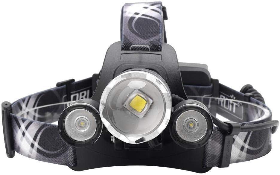 Head Torch Lumens XM-L2 LED Headlamp 4-Mode Zoom Headlight Rechargeable Head torch Power Bank Flashlight Hunting Lantern B A