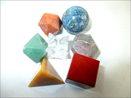 Jet 7 Chakra Geometry Set Platonic Solids Healing Crystal Therapy Booklet Sacred Divine Energized Charged Positive Peace