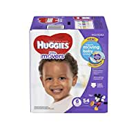 HUGGIES Little Movers Diapers, Size 6, 54 Count