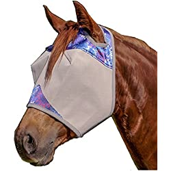 Cashel Designer Fly Mask, Standard without ears and nose, Style: Purple Flare Size: Arab/Cob/Small Quarter Horse- Limited Edition for 2017