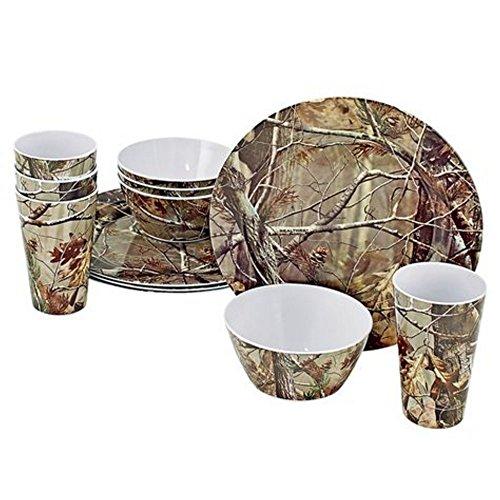 realtree-12-piece-brown-camo-melamine-dinnerware
