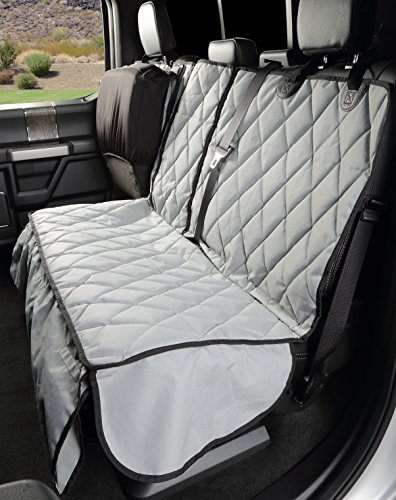 4Knines Crew Cab Rear Bench Seat Cover with Hammock - Heavy Duty - Waterproof (Grey)