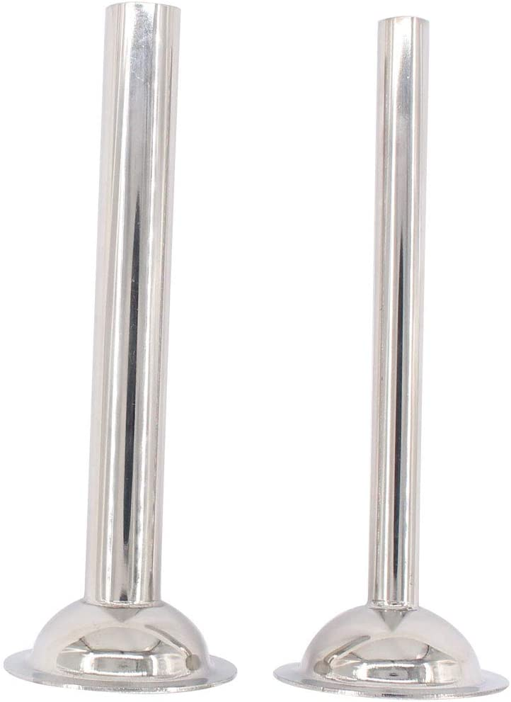 ApplianPar Pack of 2 Stainless Steel Sausage Stuffer Tubes for Food Grinder Size 5 Meat Grinder Stand Mixers Funnels Attachment