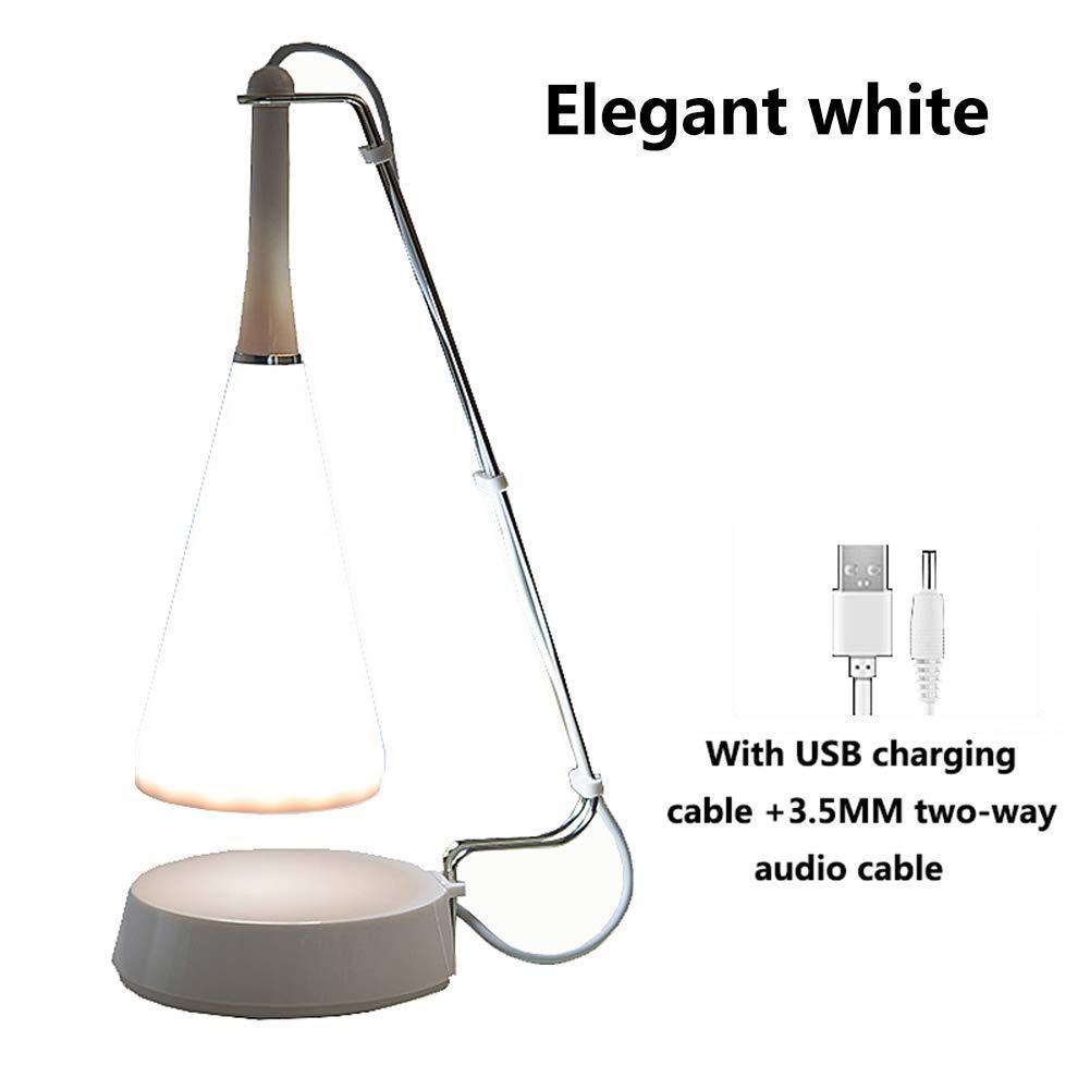 JIAN.C LED Desk Lamp Portable Bluetooth Speaker Touch Sensor Bedside Table Lamp with USB Port