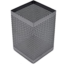 Steel Mesh, Metal Pen and Pencil Holder (Silver)
