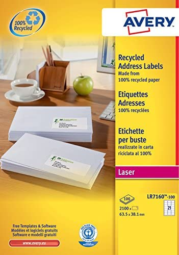 Avery España LR7160-100 - Pack de 100 folios de etiquetas ...