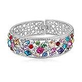 Girl-Shop Swarovski Elements Crystal Bracelet - Deep Gentle Exaggerated Bracelet Bracelet,Color2