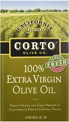 Corto Extra Virgin Olive Oil From California, (3 Liter Fresh Sealed Bag in Box) by Corto
