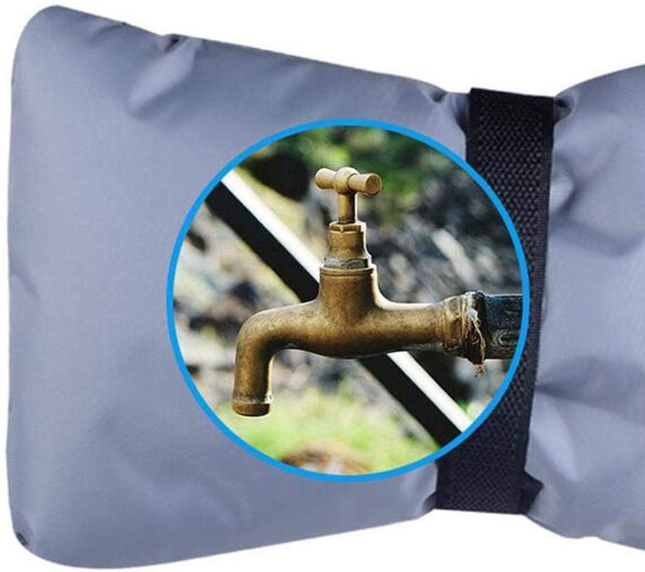 for Water Faucet Mojoe Reusable Faucet Insulation Outdoor Water Faucet Cover Socks S+L with 3//4 Plug Blue 2pcs