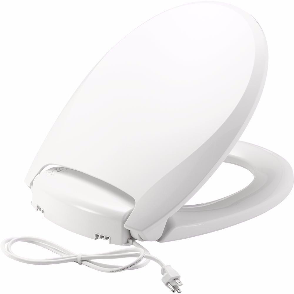 Bemis H900NL 000 Radiance Heated Night Light Toilet Seat, Round, White by Bemis