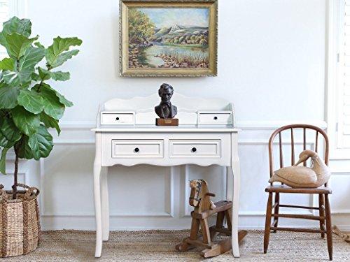 Scrivania In Legno Bianco : Rebecca srl consolle scrittoio cassetti legno bianco classico