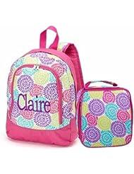aBaby Bloom Preschool Backpack and Lunch Bag Combo, Name Sophia