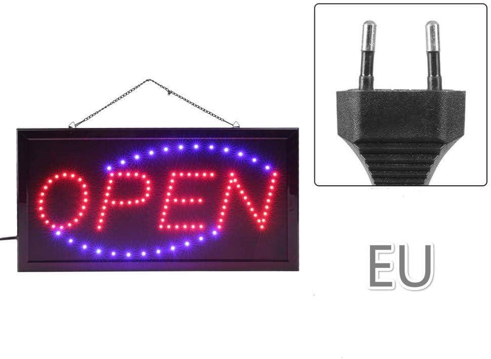 Schild LED Panel Beleuchtung Gesch/äft offen Open Lokus Schild Schild LED Panel Offene Beleuchtung Offfen-0