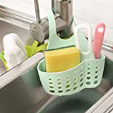 Baomabao Portable Home Kitchen Hanging Drain Bag Basket Bath Storage Tools Sink Holder (Green)