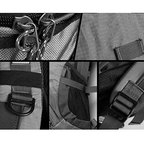 AMOS Alto al aire libre alpinismo bolso hombro hombres y mujeres bolsa de viaje de gran capacidad bolso de viaje mochila 30L ( Color : Plum red ) Army green