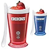 Zoku Slush and Shake Maker - 7 minute freeze (Set of 2 - Red/Blue - 8oz)