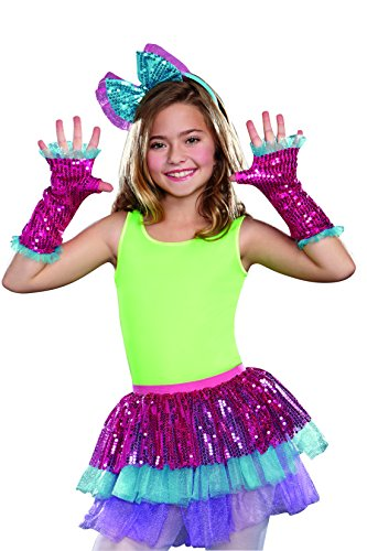 SugarSugar Dance Craze Sequin Arm Warmers, Hot Pink, One Size
