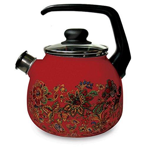 Enamelware Tea Kettle (Khokhloma Imperio Enamelware Tea Kettle. 3 L)