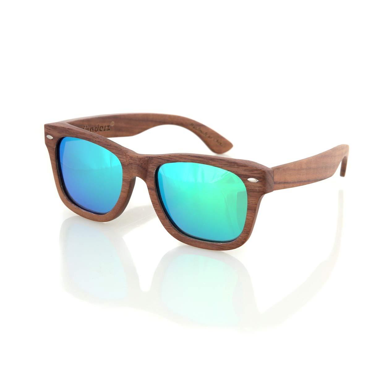 Amazon.com: Madera de Nogal de madera marcos polarizadas ...