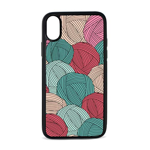 (Yarn Ball Love Warm Color Creative Digital Print TPU Pc Pearl Plate Cover Phone Hard Case Cell Phone Accessories Compatible with Protective Apple Iphonex/xs Case 5.8 Inch)