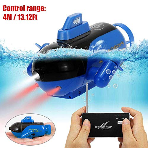 AOLVO Mini RC Boat, RC Submarine Toy Underwater Submarine Bath Toy Remote Control Boat for Bathtub, Pools, Lakes - Fast RC Race Boat High Speed Boat Toys Gift for 3 Year Olds, Boys Or Girls