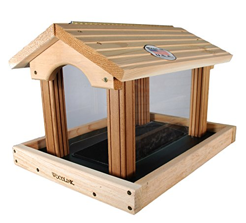 Woodlink PRO4 Premier Cedar Bird Feeder (Large Hopper Bird Feeder)