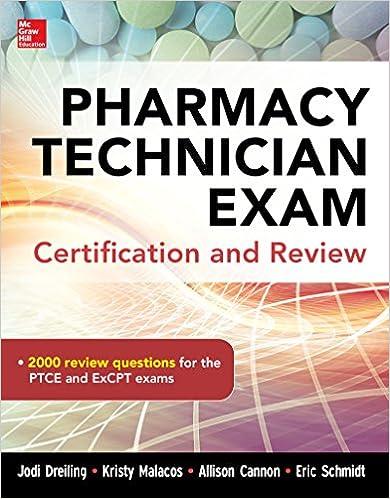 Amazon pharmacy tech exam certification and review ebook jodi amazon pharmacy tech exam certification and review ebook jodi dreiling kristy malacos allison cannon eric schmidt kindle store fandeluxe Gallery