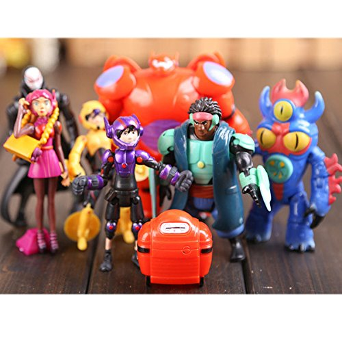 [Set of 8 Pcs Big Hero 6 Movie Character Action Figures Baymax Kids Toy Dolls] (Costume Wonder Woman Ebay)