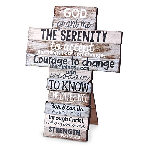Lighthouse Christian Products Medium Serenity Stacked Wood Wall/Desktop Cross ()