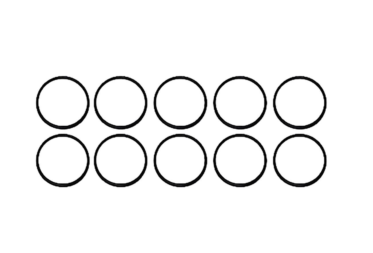 """2 3//8/"""" ID X 2 5//8/"""" OD X 1//8/"""" CS Pack of 10 O-229 229 O Ring Seal Buna-N"""