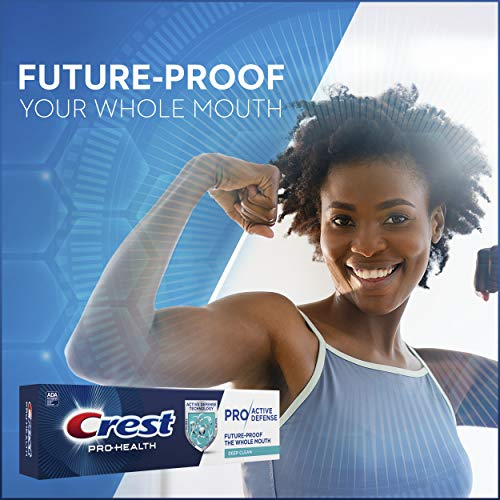 Crest Pro-Health Pro Active Defense Deep Clean Toothpaste, 4.0 oz, Pack of 3