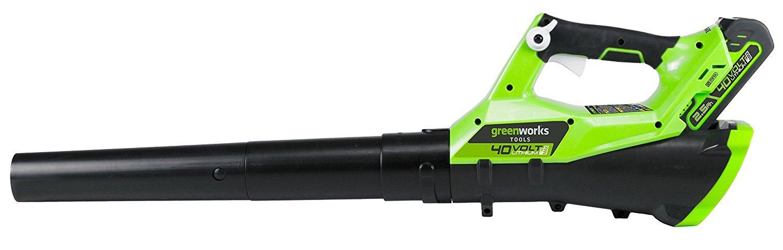 Greenworks Souffleur axial sans fil sur batterie 40V Lithium-ion sans batterie ni chargeur 2400807