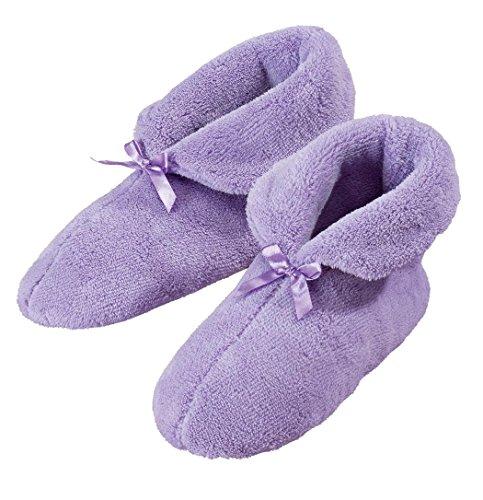 Womens Plysj Chenille Tøfler Lavendel