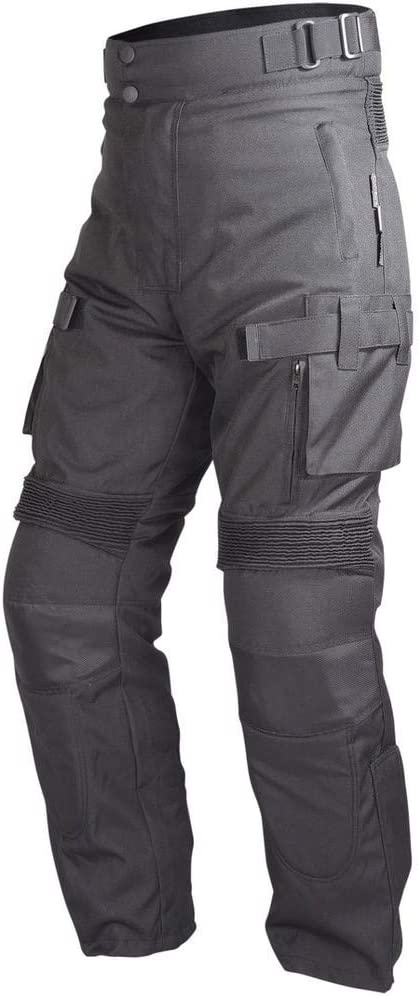 3XL Motorcycle Riding Pants Black with Removable CE Armor PT2
