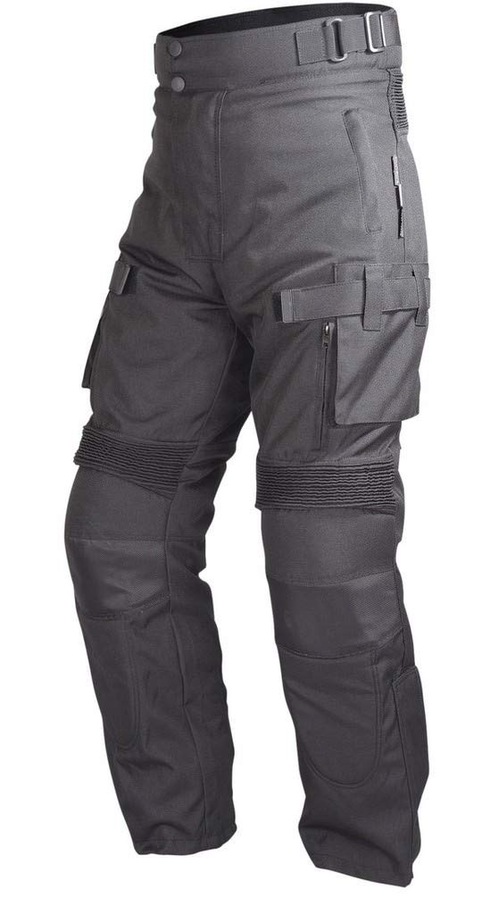 Motorcycle Riding Pants Black with Removable CE Armor PT2 XS