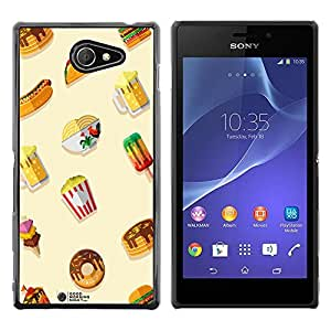 Dragon Case - FOR Sony Xperia M2 - Don??t waste your time - Caja protectora de pl??stico duro de la cubierta Dise?¡Ào Slim Fit