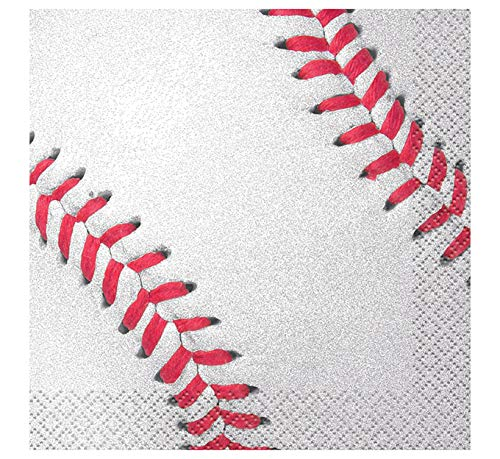 Baseball Beverage Napkins, -