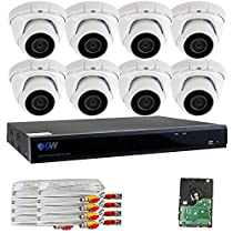 GW Security 8 Channel 5 in 1 XVR DVR 8 x 4MP 1440P 3.6mm Lens Security System 4T HD