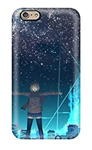High-quality Durable Protection Case For Iphone 6(cityscapes Stars Futuristic Skyscrapers City Lights Anime Original Characters)