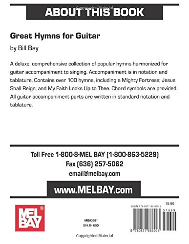 Mel Bay Great Hymns for Guitar: Bill Bay: 9780871666963: Amazon.com ...