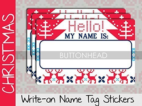 ugly christmas sweater party decorations decor adult christmas party games name tags stickers - Ugly Christmas Sweater Party Decorations