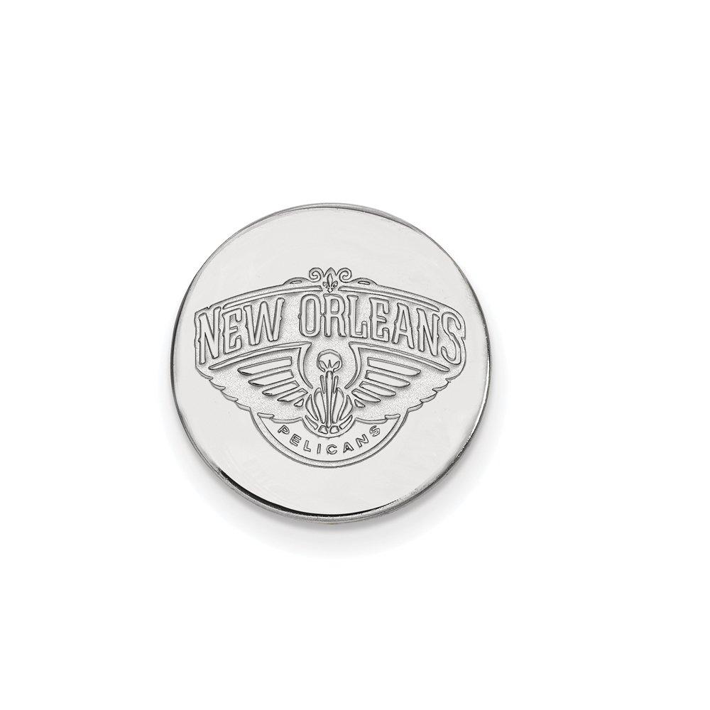 NBA New Orleans Pelicans Lapel Pin in 14K White Gold by LogoArt